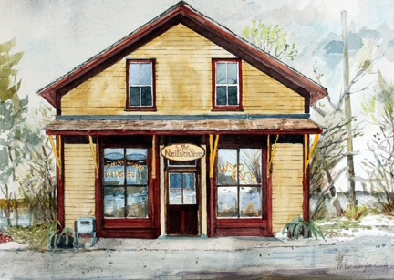 Neilson Store Museum Watercolour by Peter G. S. Large